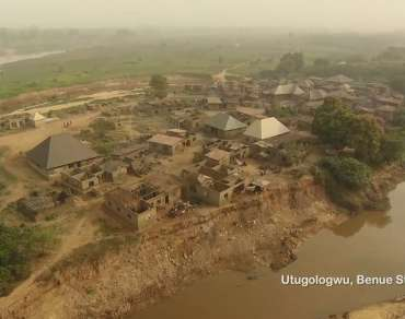 A flood prone community in Benue State where the E4E project is being implemented