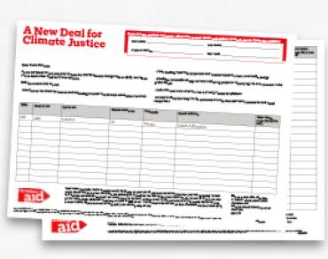A New Deal for Climate Justice petition