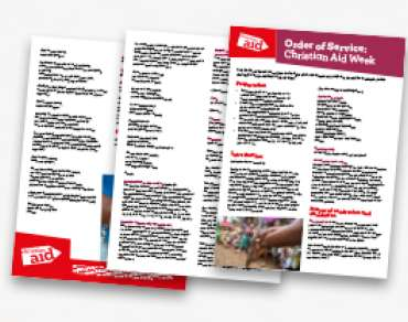 Order of Service: Christian Aid Week and coronavirus