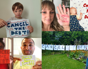 Cancel the debt photo petition collage