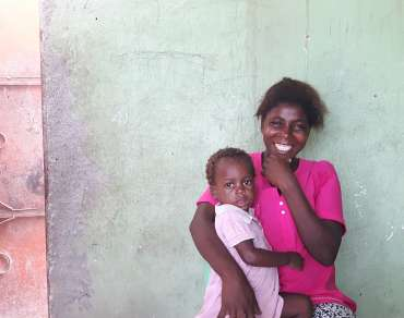 Avelina Nangulande, with her daughter Dominga