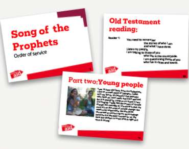 Song of the Prophets service PowerPoint Thumbnail