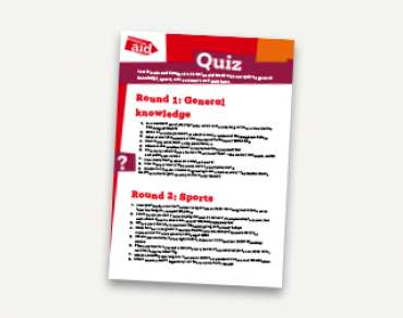 Christian Aid Week Quiz
