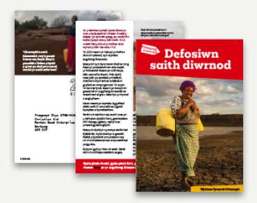 Welsh Devotional for Christian Aid Week