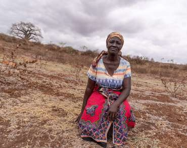 Rose Katanu Jonathan is part of the Itukisya earth dam project, Dili Village, Kitui.