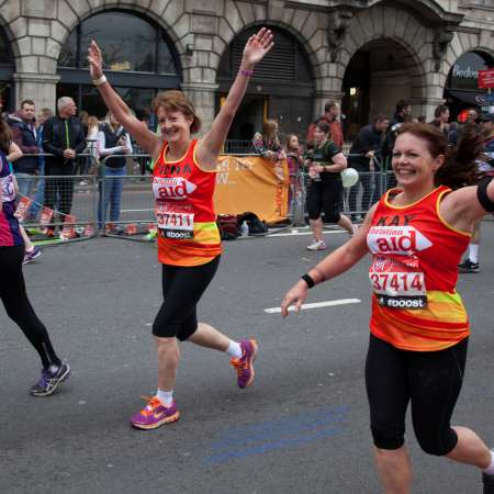 Christian Aid London Marathon runners