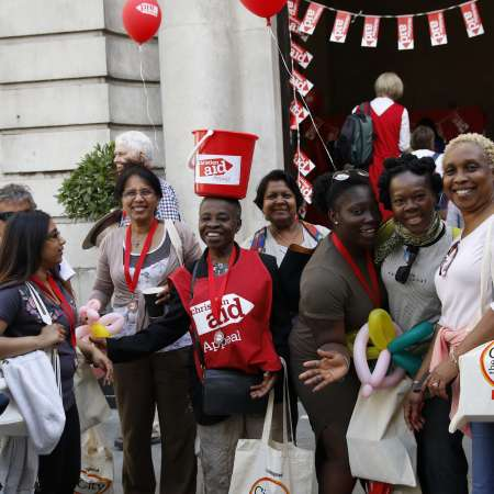 Christian Aid supporters in London