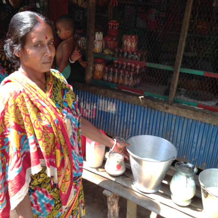 A woman in India involved with the Salt Business Network
