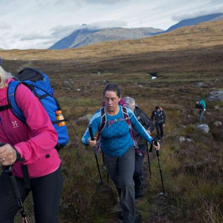Christian Aid supporters trekking up a Munro in Scotland