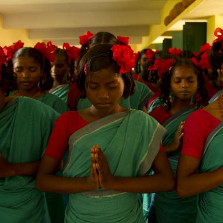 School girls worship in India - Christian Aid
