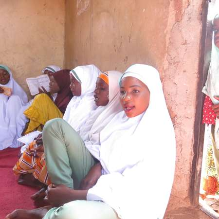 Adolescent girls who the CAAGI programme is working with