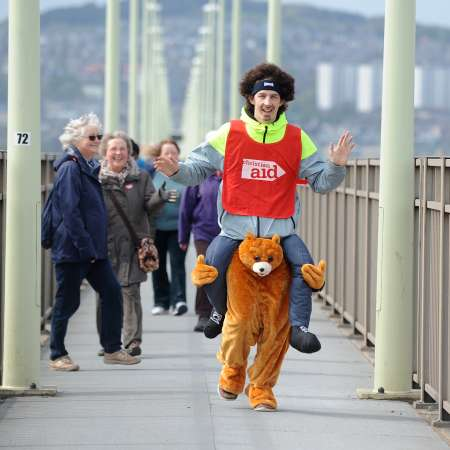Tay Bridge Cross walker in fancy dress