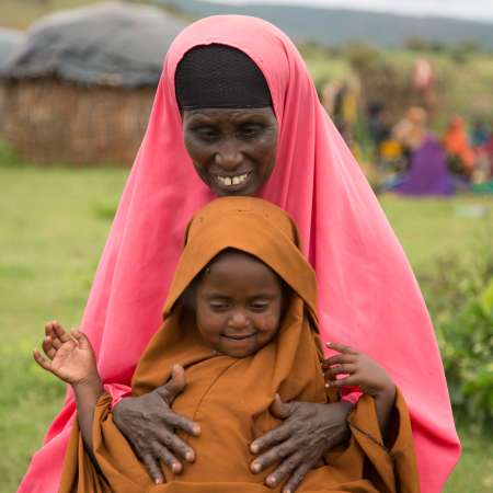 Fatuma Kusheni with her child