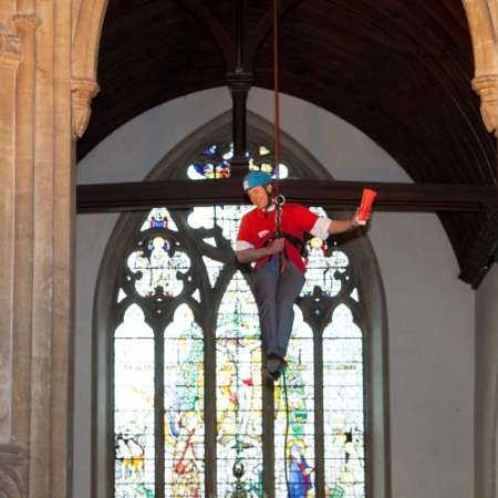 Abseiling in Cricklaid for Christian Aid Week