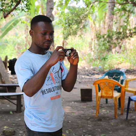 John Jerome is one of the participants taking part in the Picture Power project in Nigeria